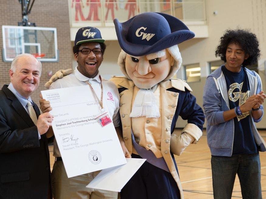 George Washington University mascot students