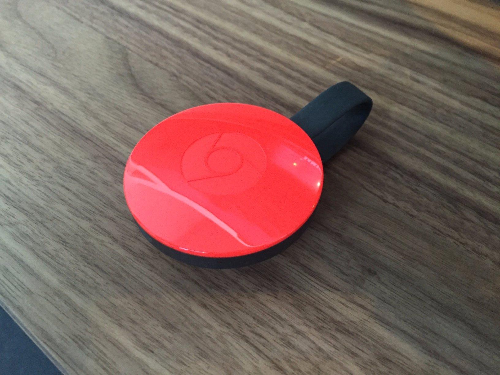 red chromecast