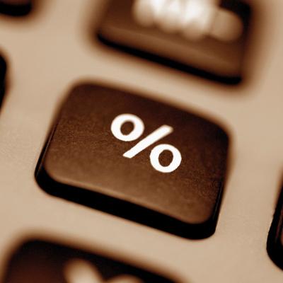 percentage button