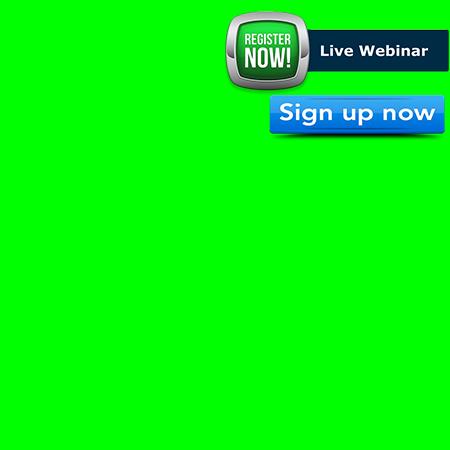 Corner Page 450×450 LIVE Webinar Green
