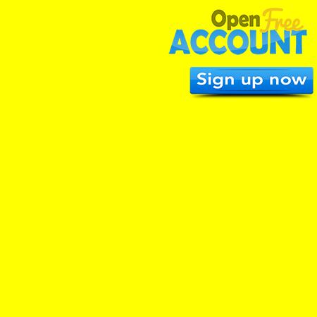 Corner Page 450×450 FREE Account Yellow